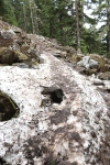 Packed Ice on Trail